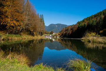 Riessersee at autumn