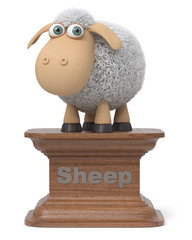 3d illustration funny sheep