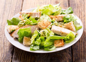 plate of chicken salad