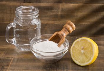 Water, baking and lemon - Citrus × lemon