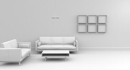 Salón blanco decoración