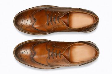 Stylish leather mens shoes