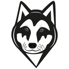 The image of the wolf. Head of the wolf. Logotype.