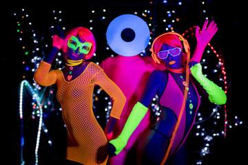 glow uv neon disco partty