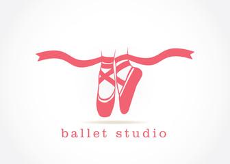 pink ballet shoes dancing