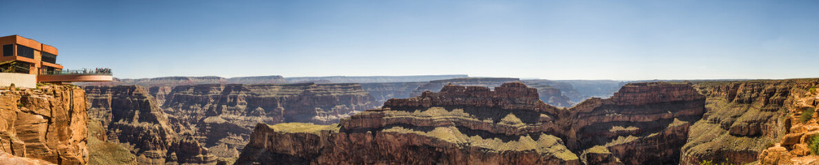 Panorama: Skywalk - Grand Canyon West Rim, Arizona, AZ, USA