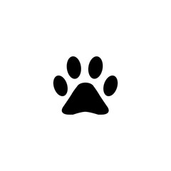 Dog paw, pets vector illustration