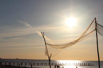 Sonnenuntergang mit Segel