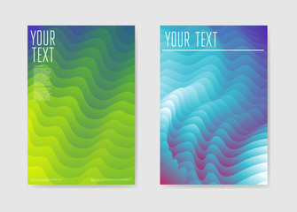 Abstract Poster Liquid Wave Background. Fluid Shapes Brochure Template. Banner Identity Card Design. Vector illustration