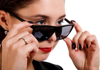 Woman in a sunglasses