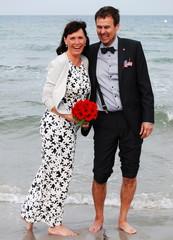Paar Hochzeit Strand