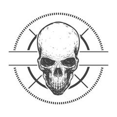 Creepy vector skull