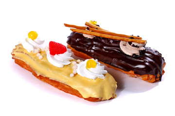 Two eclairs