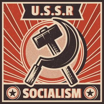 RETRO SOCIALISM BACKGROUND