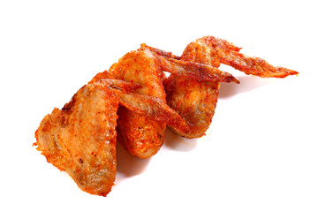 Fried chicken wings with a crispy crust