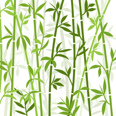 Bamboo background japanese asian plant wallpaper grass. Bamboo tree vector pattern