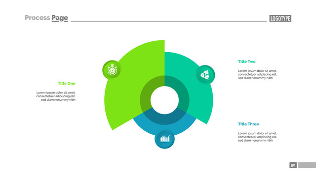 Pie Chart with Three Elements Template