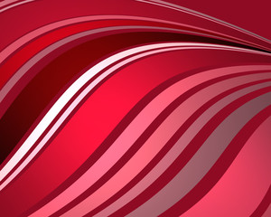 abstract background design of flowing stripes in wavy pattern in shades of red pink burgundy and white, modern abstract art background