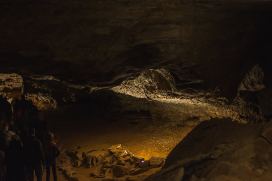 Mammoth Cave National Park Kentucky Darkness Creepy Stalagmites Stalactites