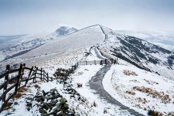 Poster Hill Peak District in winter