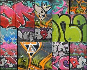 Kolaż - graffiti