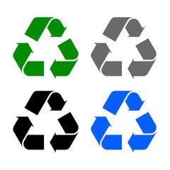 Set of arrow recycle – stock vector