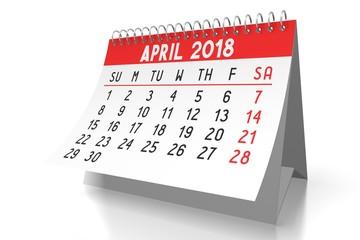 Calendar 2018 - April