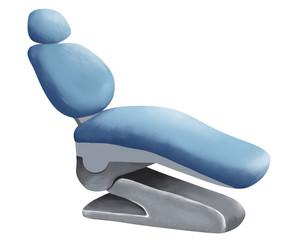 Blue dental professional sit on white background