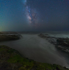 Milky way over the Pacific coast, California