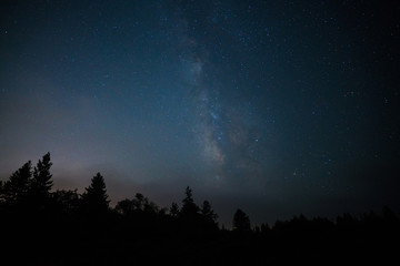 Milky way over Santa Cruz mountains, California
