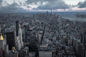New York City at Evening Time
