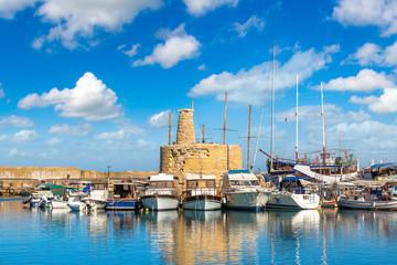 Garden Poster Cyprus Harbour in Kyrenia (Girne), North Cyprus