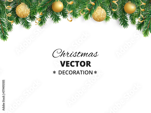u0026quot winter holiday background  border with christmas tree