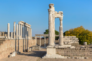 Temple of Trajan in Pergamon, Turkey