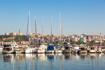 Harbour view in Canakkale, Turkey.