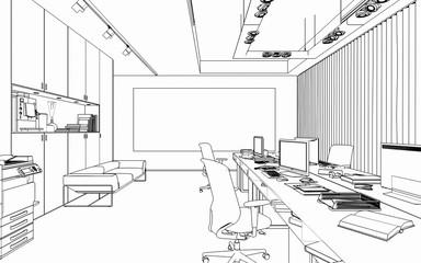 Office Arangement (scetch)