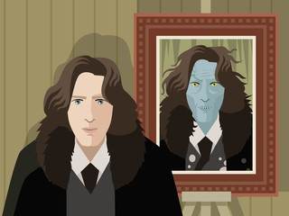 great writer and twisted evil dorian gray painting