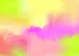 Abstract colorful watercolor for background. Digital art painting