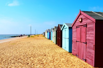 Beach huts of east coast
