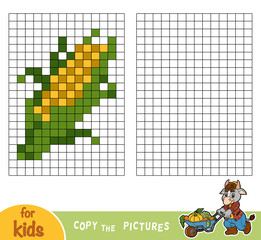 Copy the picture, education game, Corn