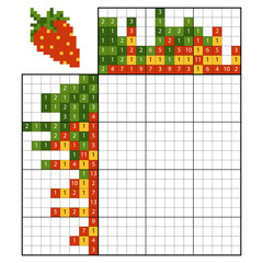 Paint by number puzzle (nonogram), Strawberry