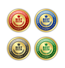 Best seller badges placed on white background