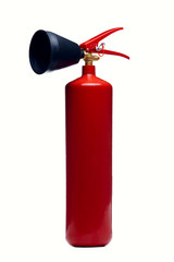 Photo of red fire extinguisher