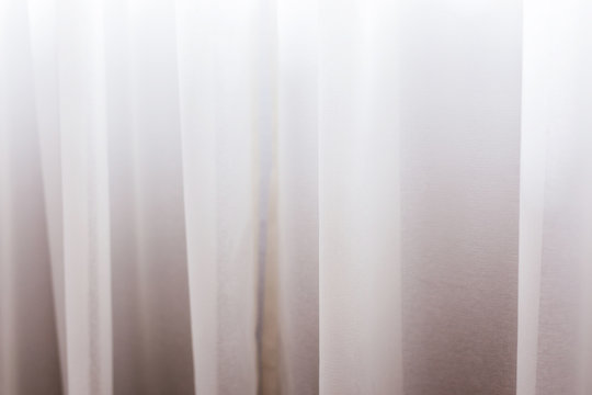white sheer curtain texture background in daylight atmosphere
