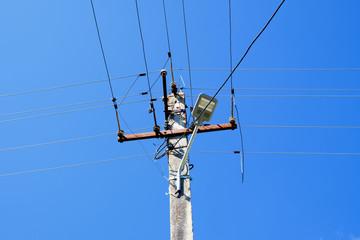 Electricity power pole