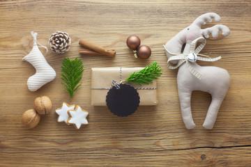 Christmas-Themed Flat Lay