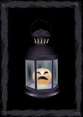lantern adamant with pumpkin
