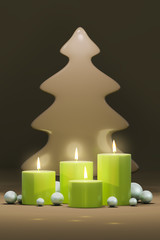 four candles for christmas time