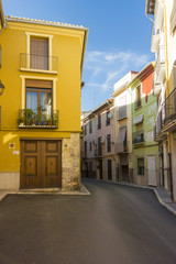 Colourful  Houses in a Narrow Street, Spain