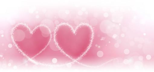 Abstract bokeh hearts